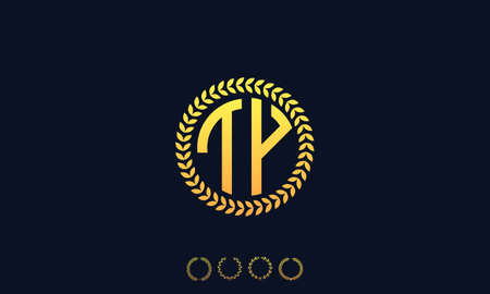 Organization Rounded Initial Letters TY logo. Vector illustration