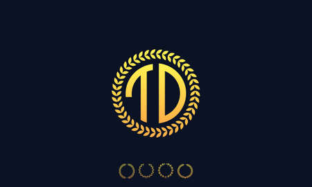 Organization Rounded Initial Letters TD logo. Vector illustration