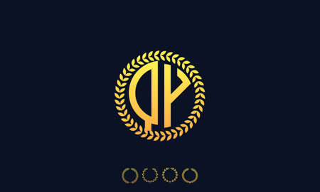 Organization Rounded Initial Letters QY logo. Vector illustration