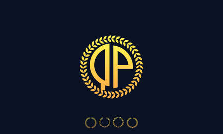 Organization Rounded Initial Letters QP logo. Vector illustration