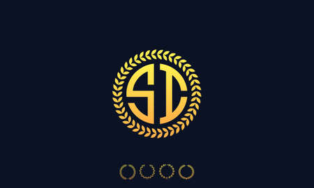 Organization Rounded Initial Letters SI logo. Vector illustration Ilustrace
