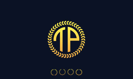 Organization Rounded Initial Letters TP logo. Vector illustration