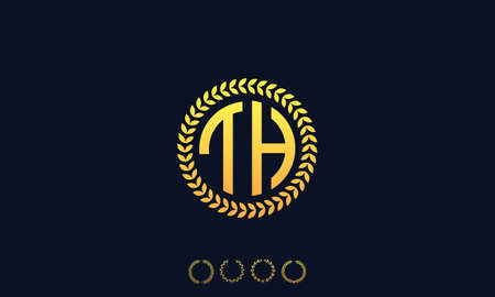 Organization Rounded Initial Letters TH logo. Vector illustration