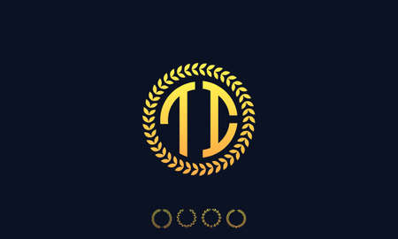 Organization Rounded Initial Letters TI logo. Vector illustration Ilustrace