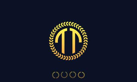Organization Rounded Initial Letters TT logo. Vector illustration