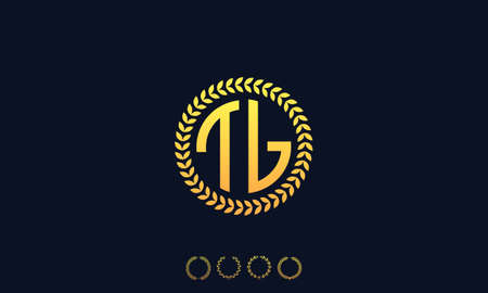 Organization Rounded Initial Letters TL logo. Vector illustration Ilustrace