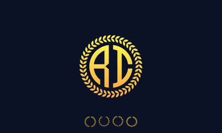 Organization Rounded Initial Letters RI logo. Vector illustration Ilustrace