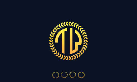 Organization Rounded Initial Letters TW logo. Vector illustration