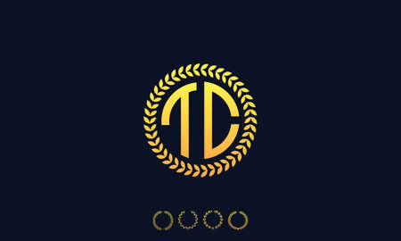 Organization Rounded Initial Letters TC logo. Vector illustration