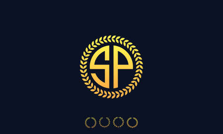 Organization Rounded Initial Letters SP logo. Vector illustration Ilustrace