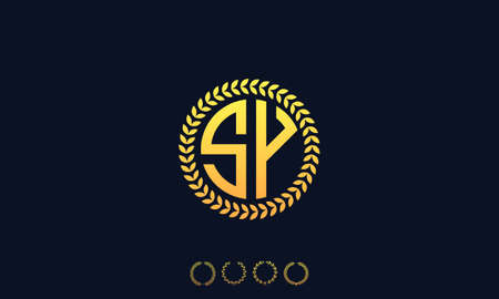 Organization Rounded Initial Letters SY logo. Vector illustration