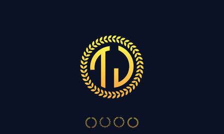 Organization Rounded Initial Letters TJ logo. Vector illustration