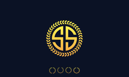 Organization Rounded Initial Letters SS logo. Vector illustration