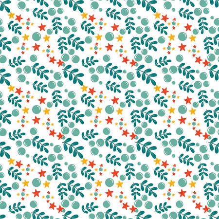 leaf Seamless Pattern Design  Vector Illustration.