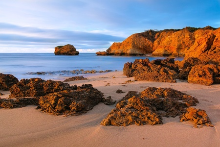 Rock beside the sea