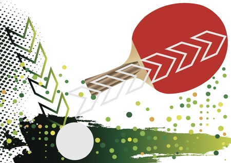 table tennis: Tennis ball Illustration