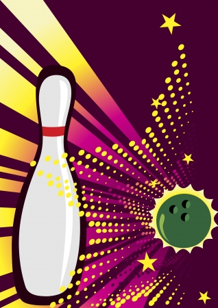 Banner for bowling clubs Stock Vector - 20854097