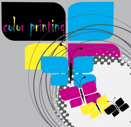 Color Printing background Vetores