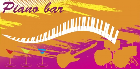 Piano bar Vector
