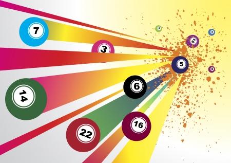 billiards: Abstract bingo background Illustration