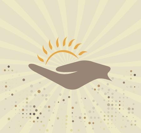 Sun logo Stock Vector - 21058354