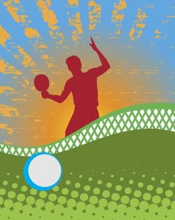 ping pong: Fondo de tenis  Vectores