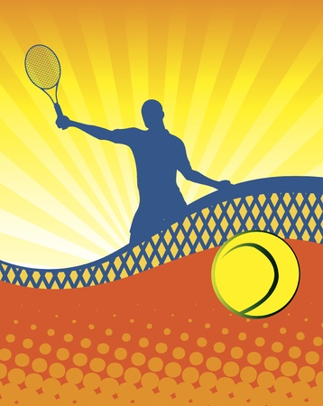 Sunny tennis Ilustração