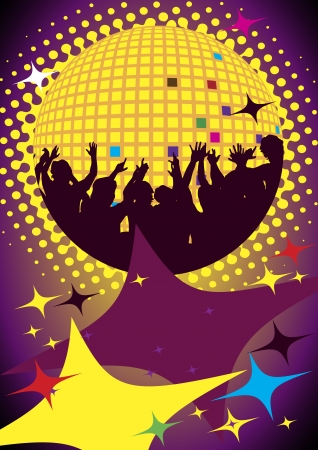 exotic gleam: Dance party Illustration