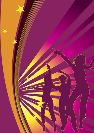 exotic gleam: Dancing people