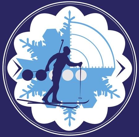 Biathlon emblem Vector