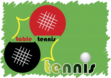 Table tennis banner Vector