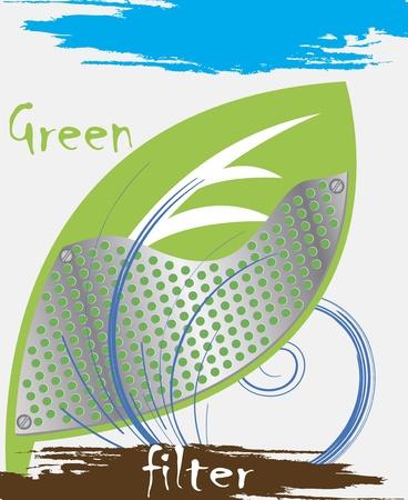 verdant: Green filter Illustration