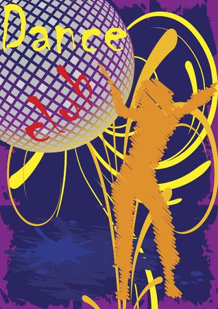 exotic gleam: Dance club poster