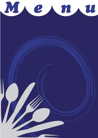 caterer: Menu for restaurants Vector illustration