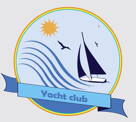 yacht club: Yacht club Illustration