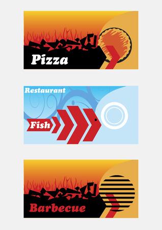 caterer: Restaurant banners Illustration