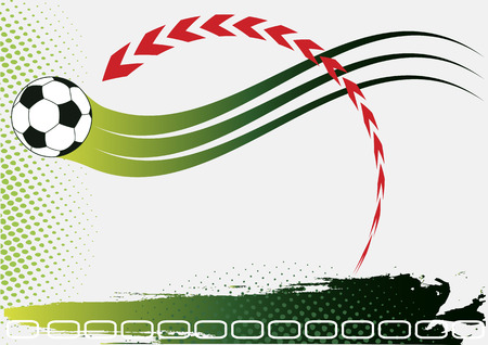 voetbal banner: Abstract voetbal banner