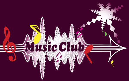 chanson: Music Club banner Illustration
