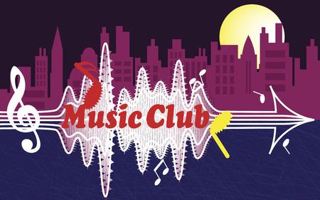 ballad: City music club Illustration