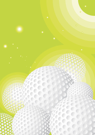 Green golf background Vector