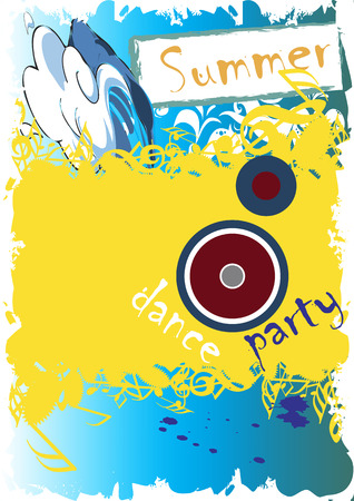 exotic gleam: Summer dance party Illustration