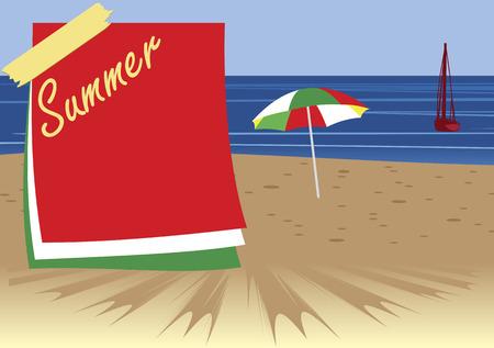 seacoast: Seacoast Holiday banner Illustration
