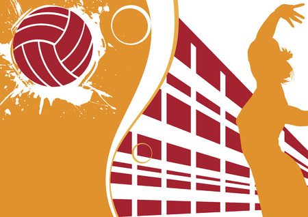 Abstract volleyball  banner Ilustração