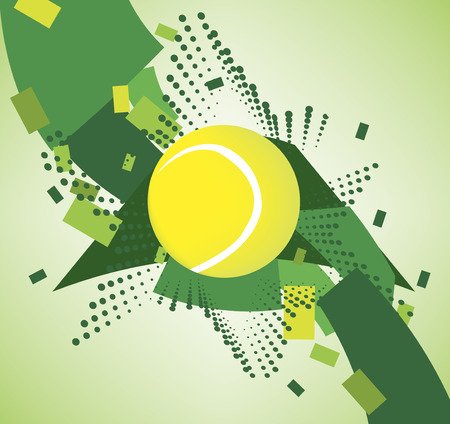 Green tennis courts  banner Vector