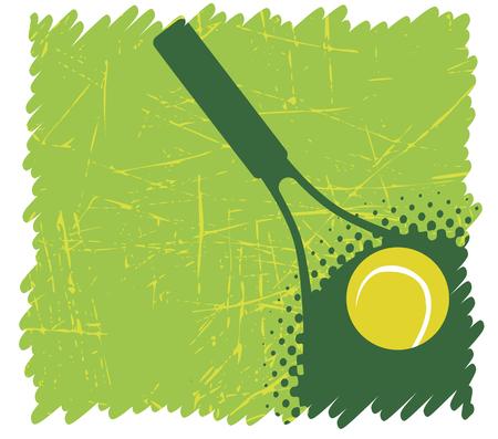Green tennis background Vector