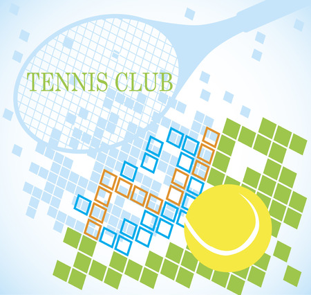 indoor court: Abstract tennis banner Illustration