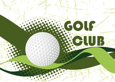 golfclub: Abstract golfclub banner Stock Illustratie