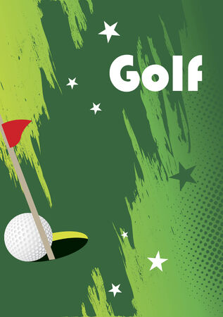 golfball: Golph poster with stars
