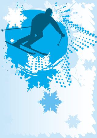 Ski poster Vector