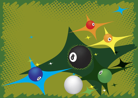 poolball: Billiard background.Abstract vector illustration. Illustration